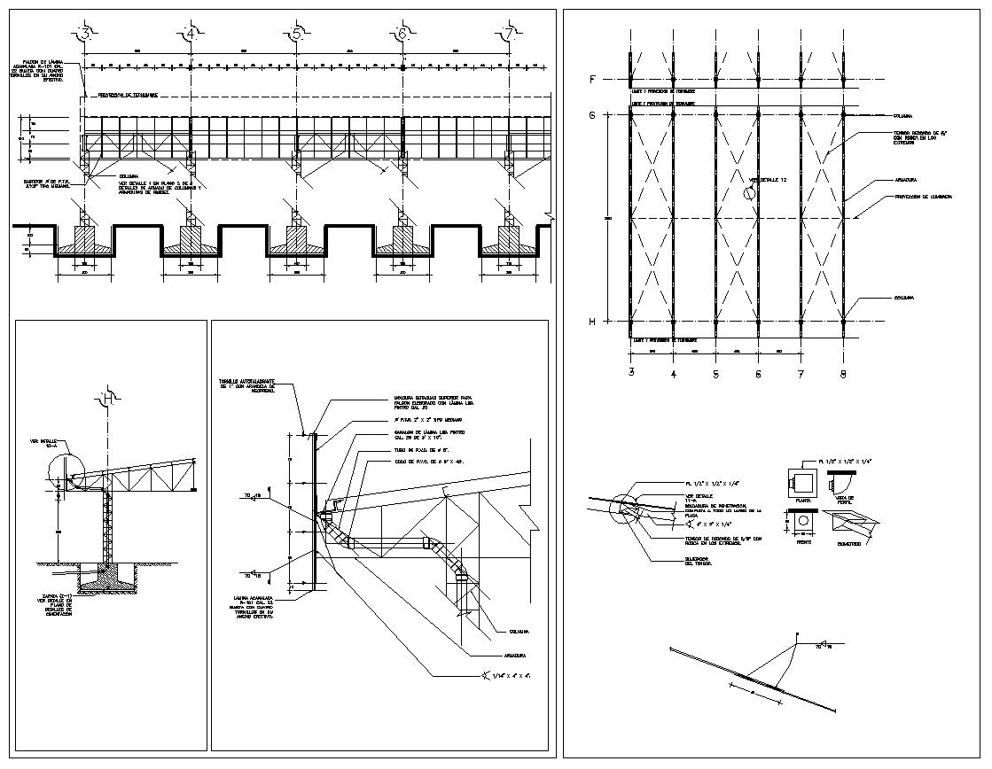 Steel Structure Details V4 Cad Design Free Cad Blocks