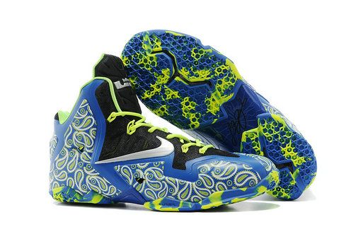 Free Shipping Only 69  Lebron 11 ID NIKEiD Easter Basketball Game Royal  Volt Metallic SiLVSer 221f262b5