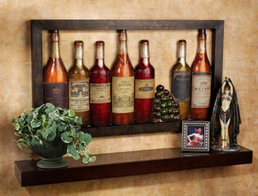 Fake wine bottles make a nice display fun things for for Cool things to do with a wine bottle