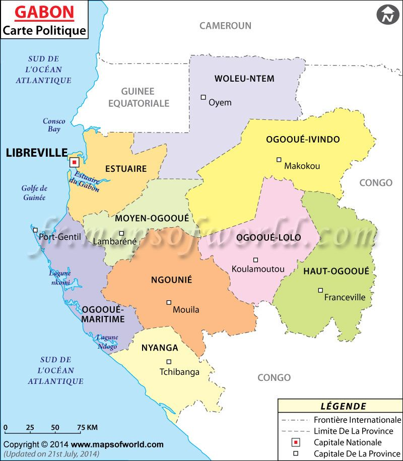 Carte du Gabon MapsInFrench CarteduMonde Carte du Monde