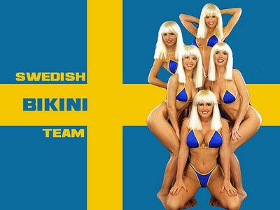 team girls bikini Swedish