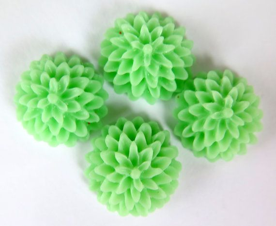4PCS  Chrysanthemum Cabochons  15mm  Matte Finish  by ZARDENIA