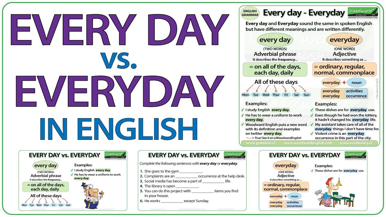Every day vs. Everyday in English - What is the difference ...