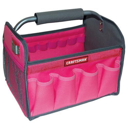 Craftsman 12 In Tool Totes Pink Kmart Pink Tools Tool Tote Pink Tool Box