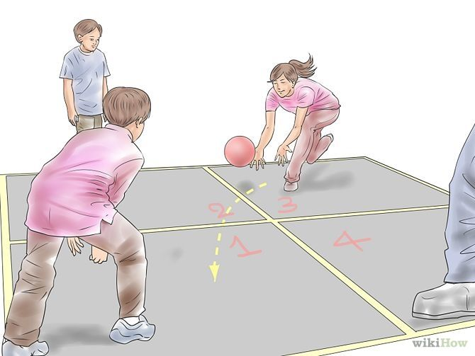 How To Play Four Square Four Square Play Playground Games