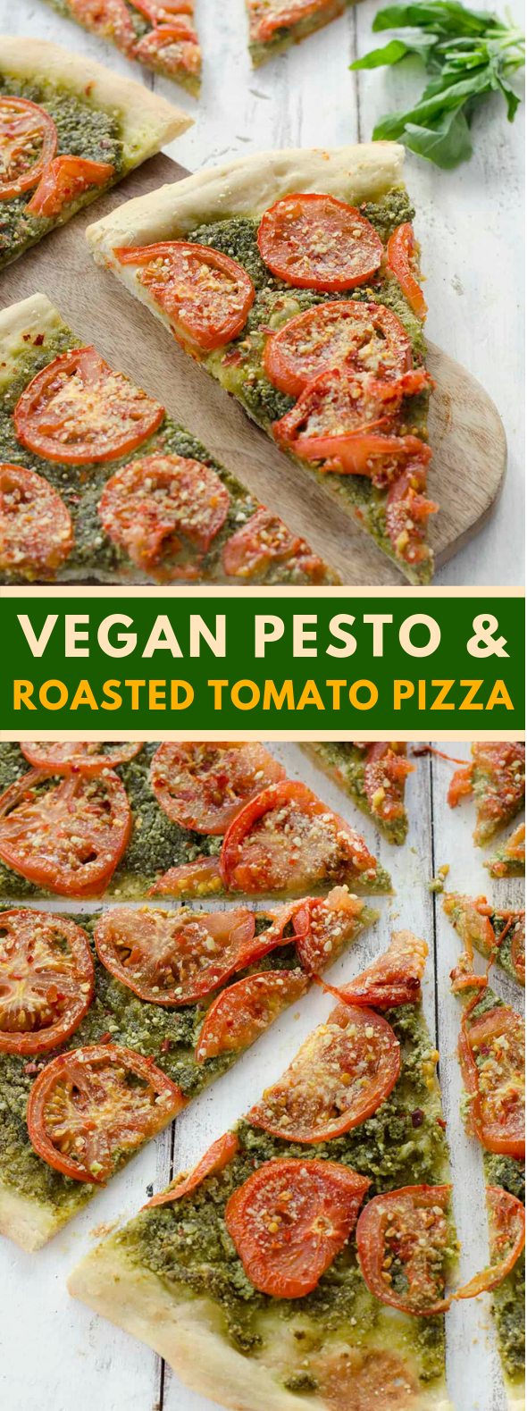 Photo of Vegan Pesto and Roasted Tomato Pizza #bettereats #healthyrecipes