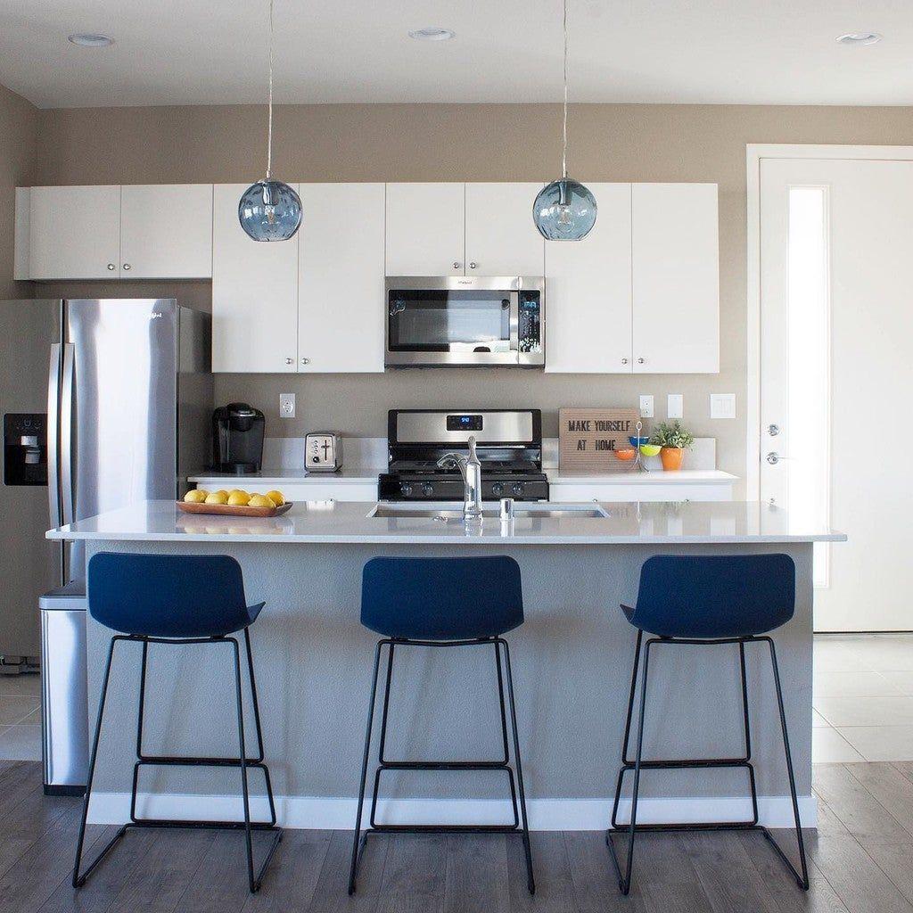 Anco Baya Blue Counter Stool   Counter stools, Modern kitchen room ...