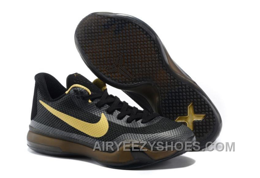 e3eed76592c 2015 new Nikes Zoom Kobe X men basketball shoes black gold