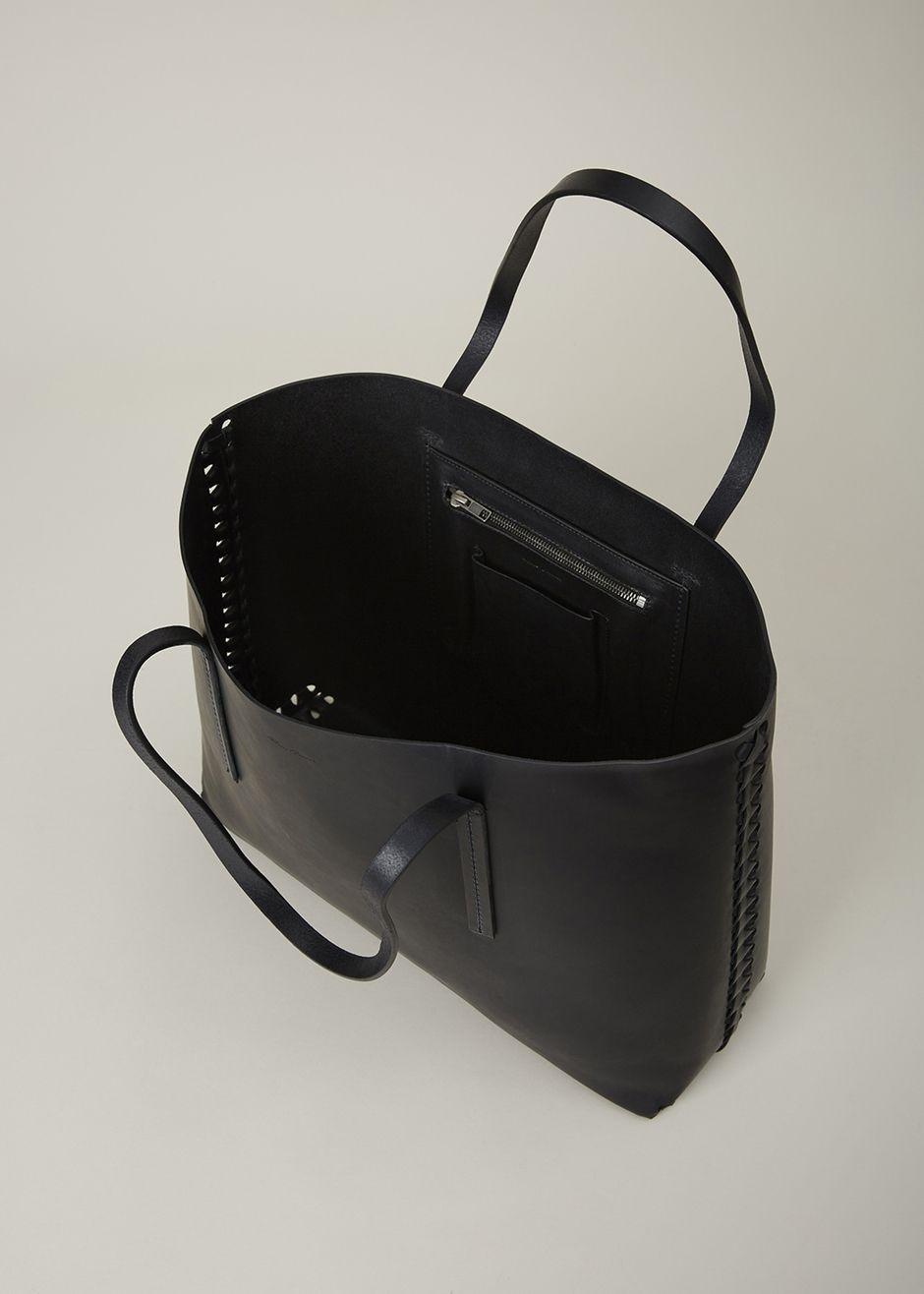 338c749c53a Rick Owens Woven Big Shopper Tote (Black) | Handbags | Shopper tote ...