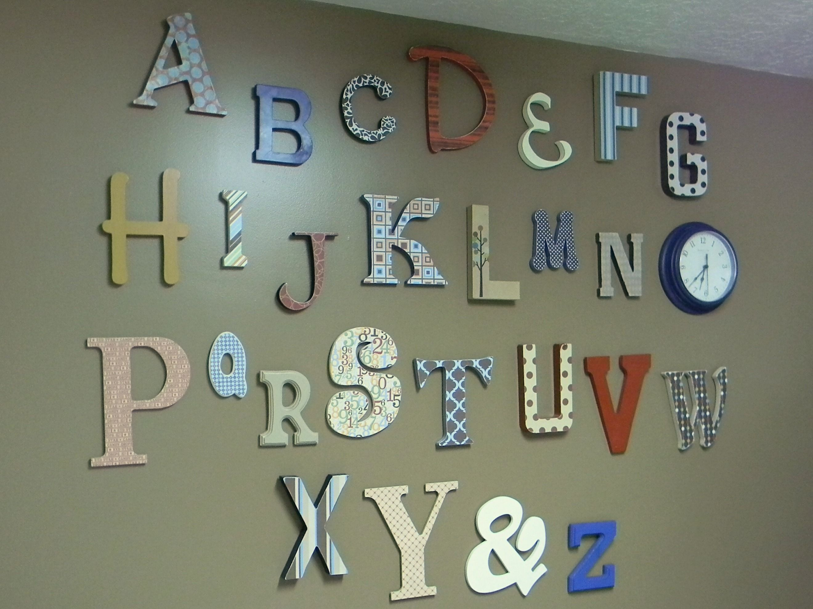 Maddux\'s Alphabet Wall - Organize and Decorate Everything | Craft ...