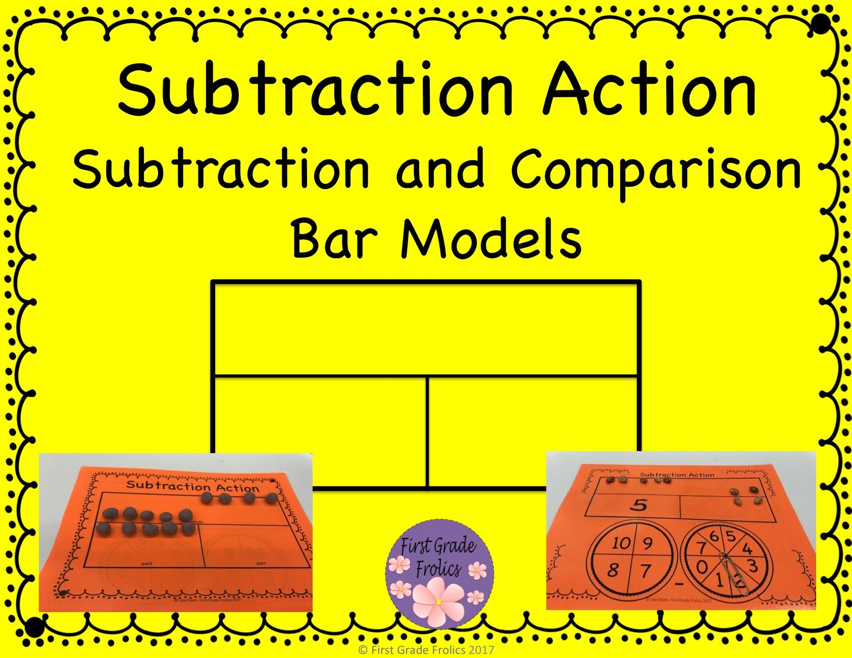 Subtraction Action Bar Models from First Grade Frolics   Subtraction [ 1304 x 1687 Pixel ]
