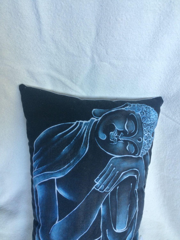 Peaceful Buddha pillow, black and white by mattseefelt on Etsy