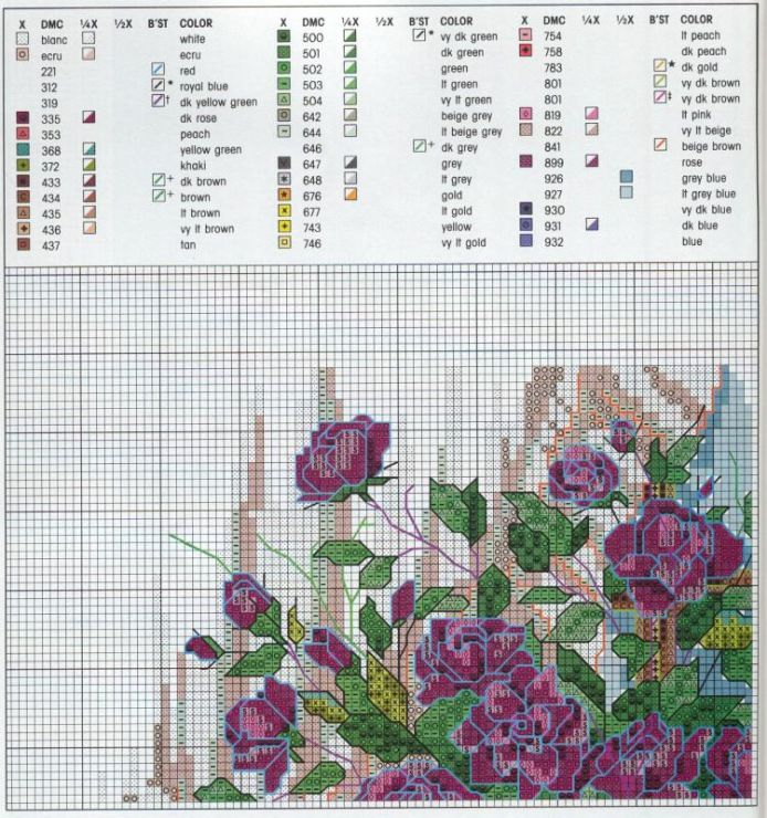 """""""Delicate Beauties ~ The Romance of Paula Vaughan"""" a cross stitch design by Paula Vaughan.  Saved from mila65.gallery.ru"""