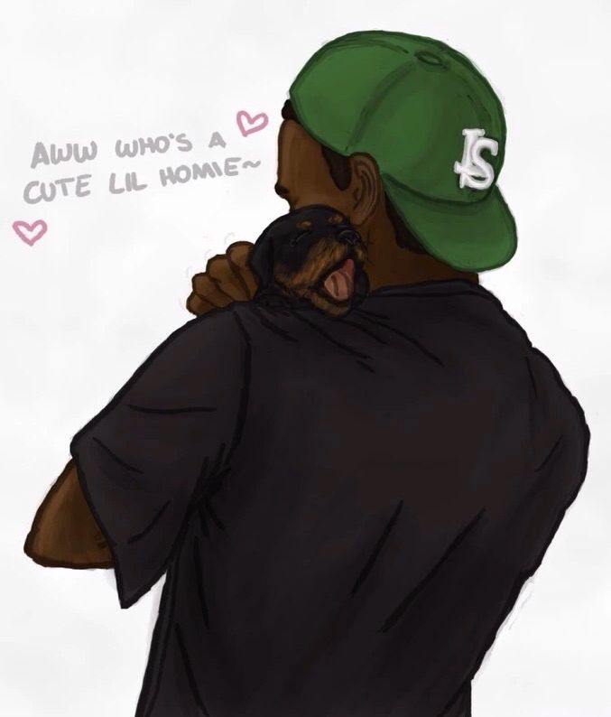 Gta V Lamar And Baby Chop 3 Gta Grand Theft Auto Grand Theft Auto Artwork