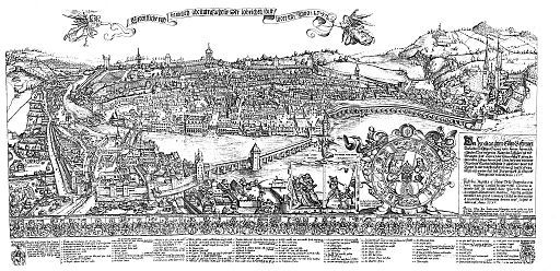 Martini Plan Lucerne 1597 Copper Engraving By Martin Martini Touristenkarte Martini Planer