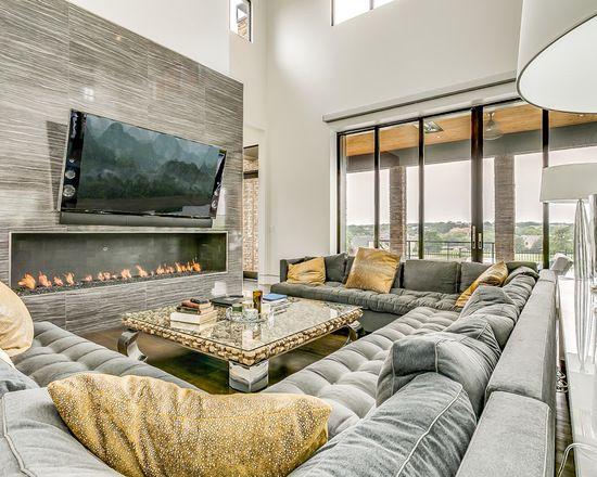 Contemporary Living Design Ideas Remodels Photos Houzz Media Room Decor Dream Living Rooms Home Cinema Room Modern living room design houzz