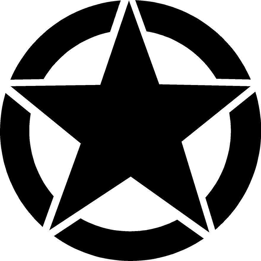 Army Star Premium Vinyl Decal Photo Logo Design Vinyl Decals Vinyl