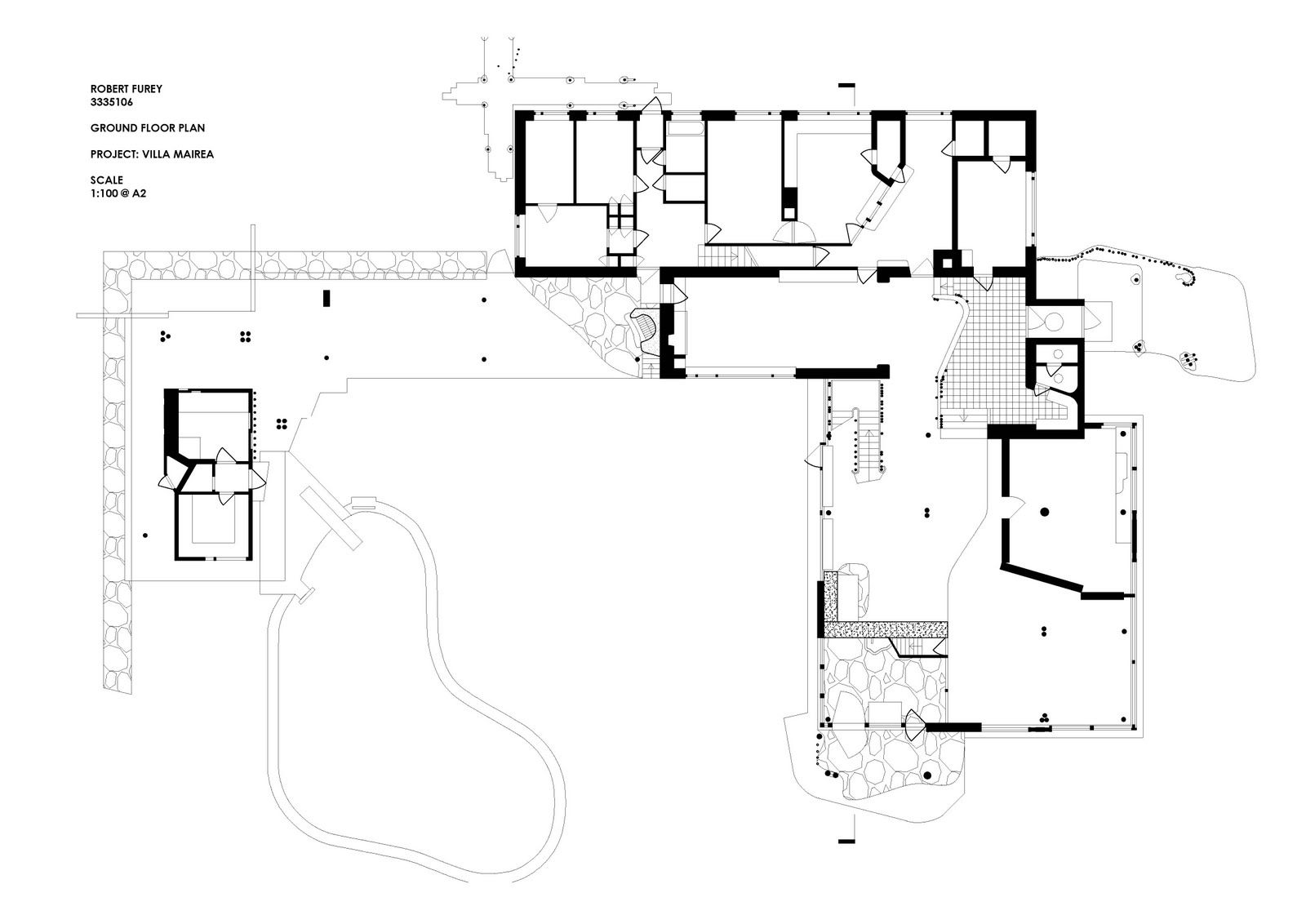 Floor Plan of Villa Mairea Alvar Aalto Noormarkku Finland 1939