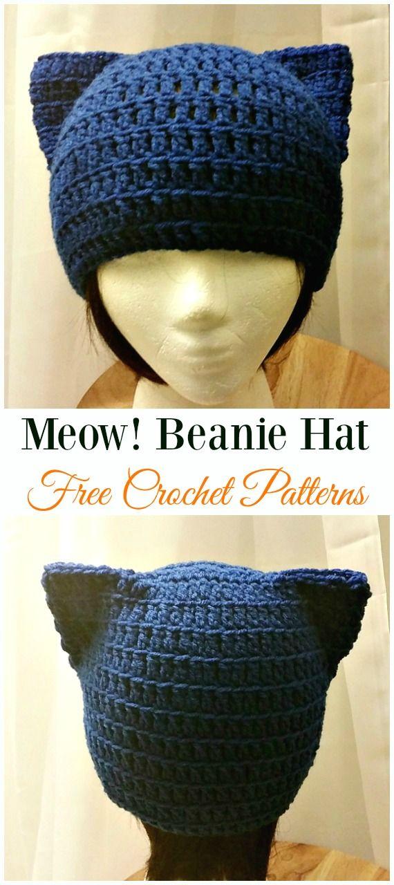 Fun Free Adult Cat Hat Crochet Patterns Crochet hats