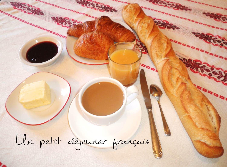 petit dejeuner francais french breakfast le caf. Black Bedroom Furniture Sets. Home Design Ideas