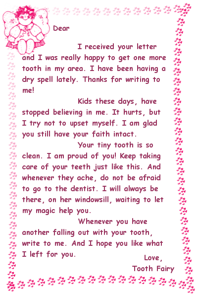 Creative tooth fairy ideas to make this milestone a joyous for Fairy letter ideas