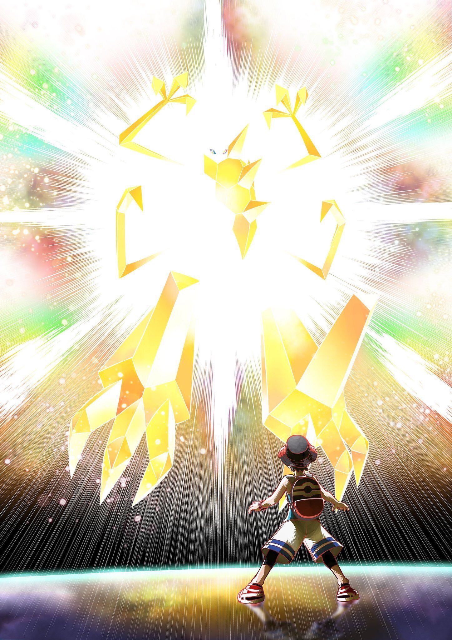 Ultra Necrozma Despite Being Too Bright And Hard To See This Is An Official Design Pokemon Pokemon Pictures Pokemon Alola