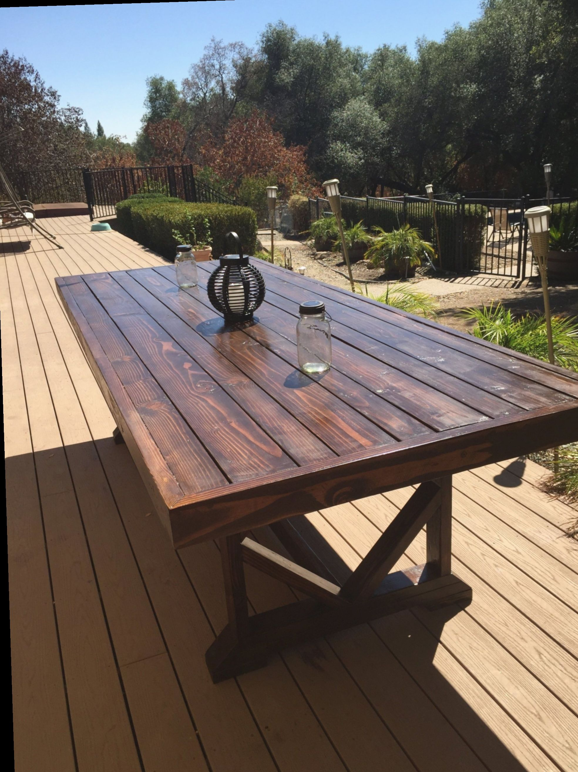 11 Diy Outdoor Table Large With Images Outdoor Wood Table