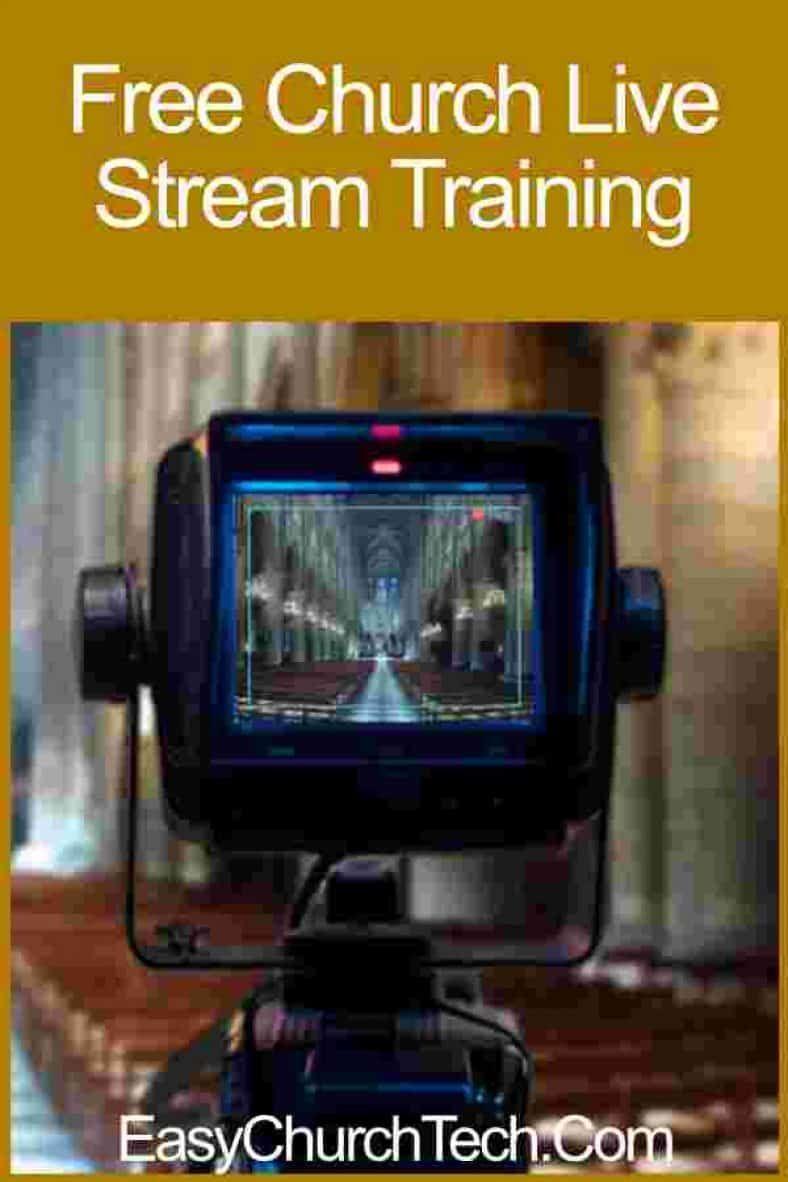 Free Church Live Stream Training Streaming, Online