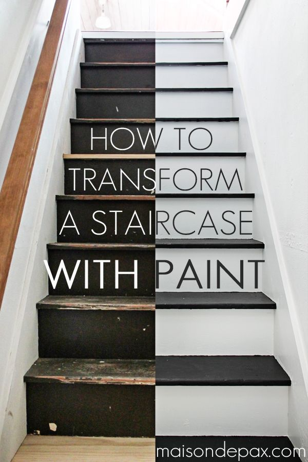Step By Step Instructions On How To Paint Stairs   Amazing Transformation!  Maisondepax.com #diy #tutorial
