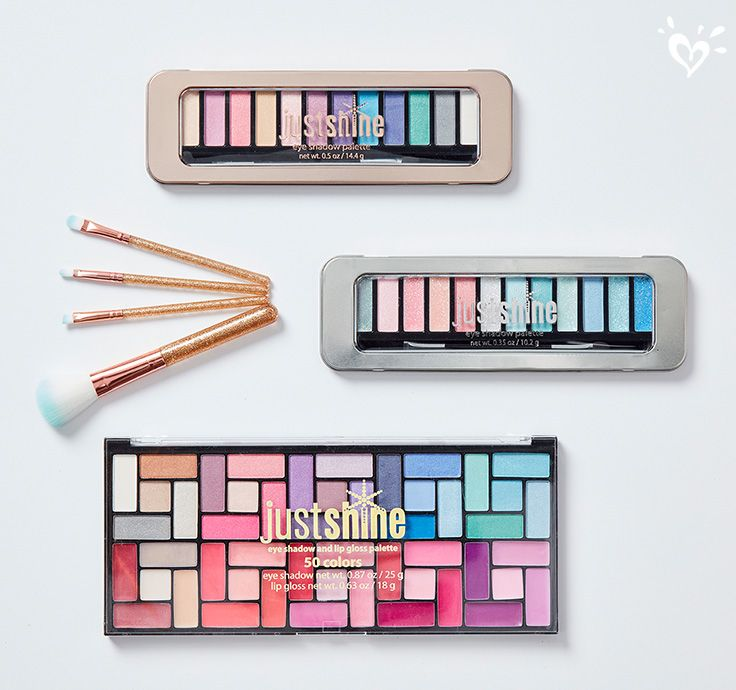 Lip and eye palletes in a rainbow of hues!
