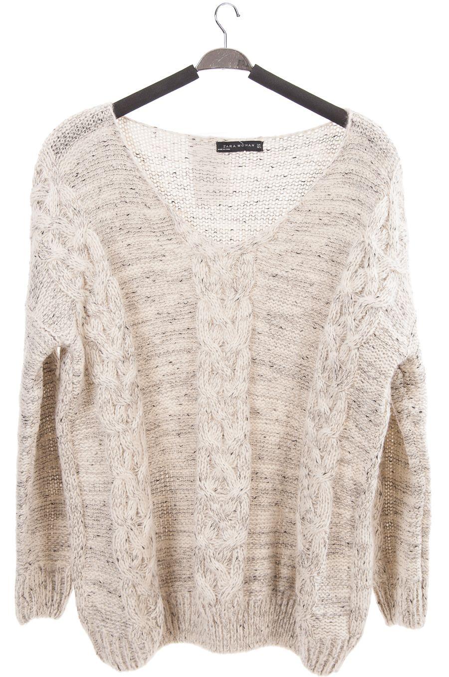 936874bfa24 Свитер объёмный ZARA — Женские свитера и вязаные кофты
