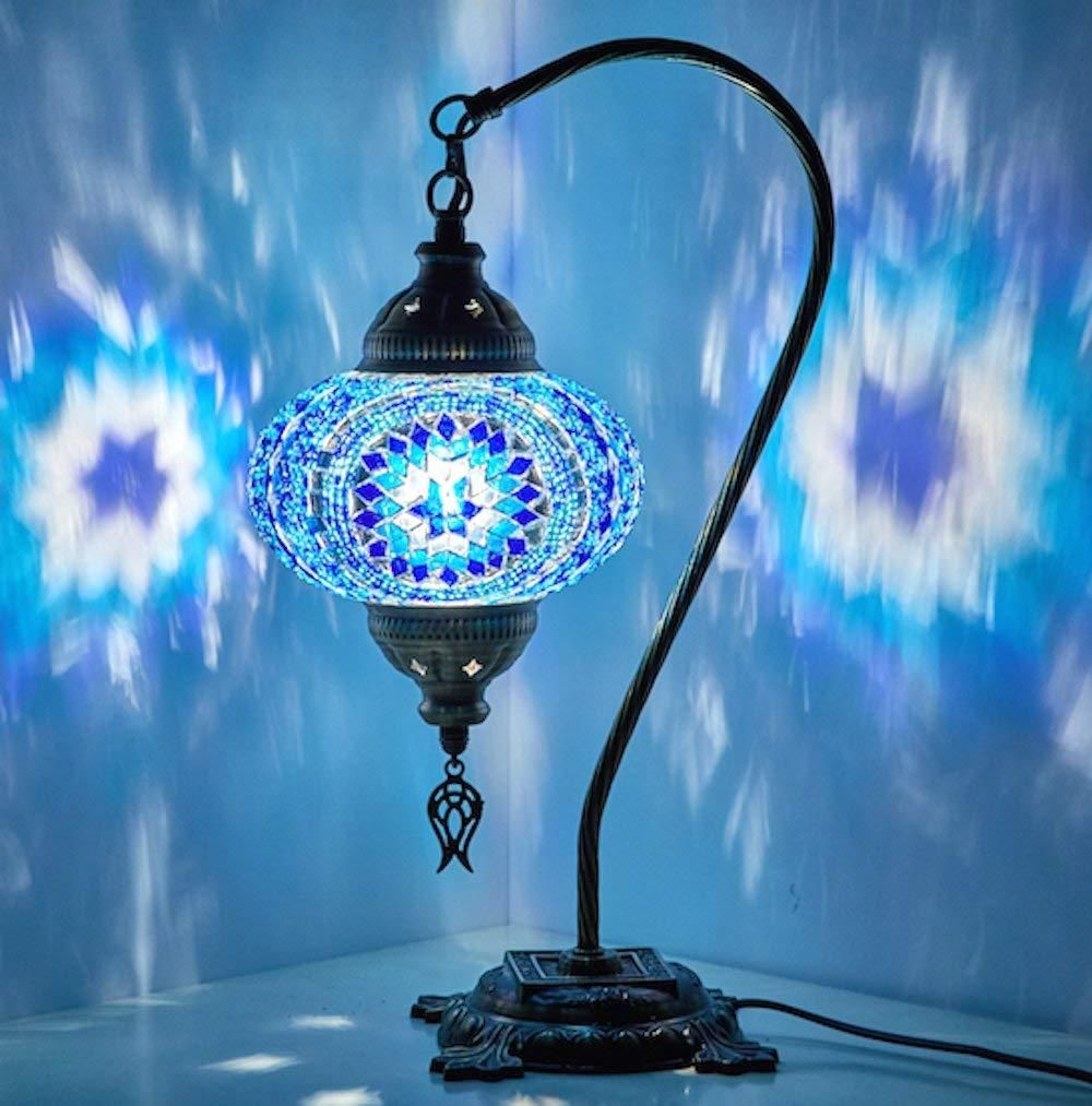 Handmade Boho Swan Neck Table Lamps In 2020 Moroccan Lamp