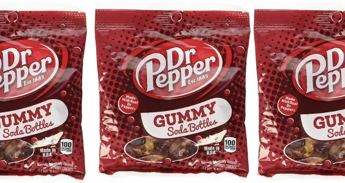 you can get dr pepper gummy soda bottles that taste just