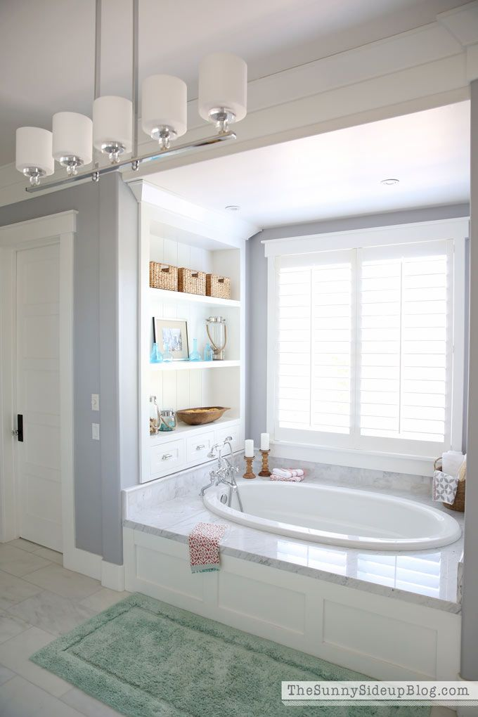 Remodeled Bathroom Ready For 2018: White Master Bathroom (ready For Spring In 2018