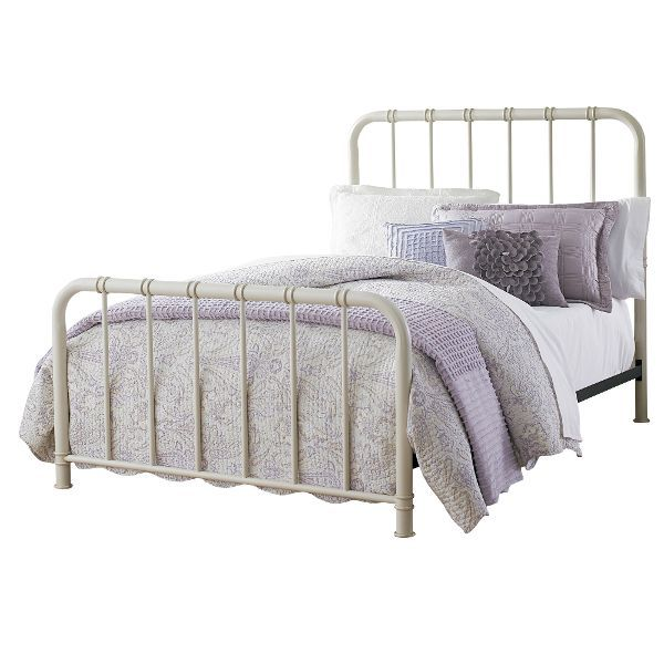 Tristen White Full Metal Bed Furniture Bed Upholstered