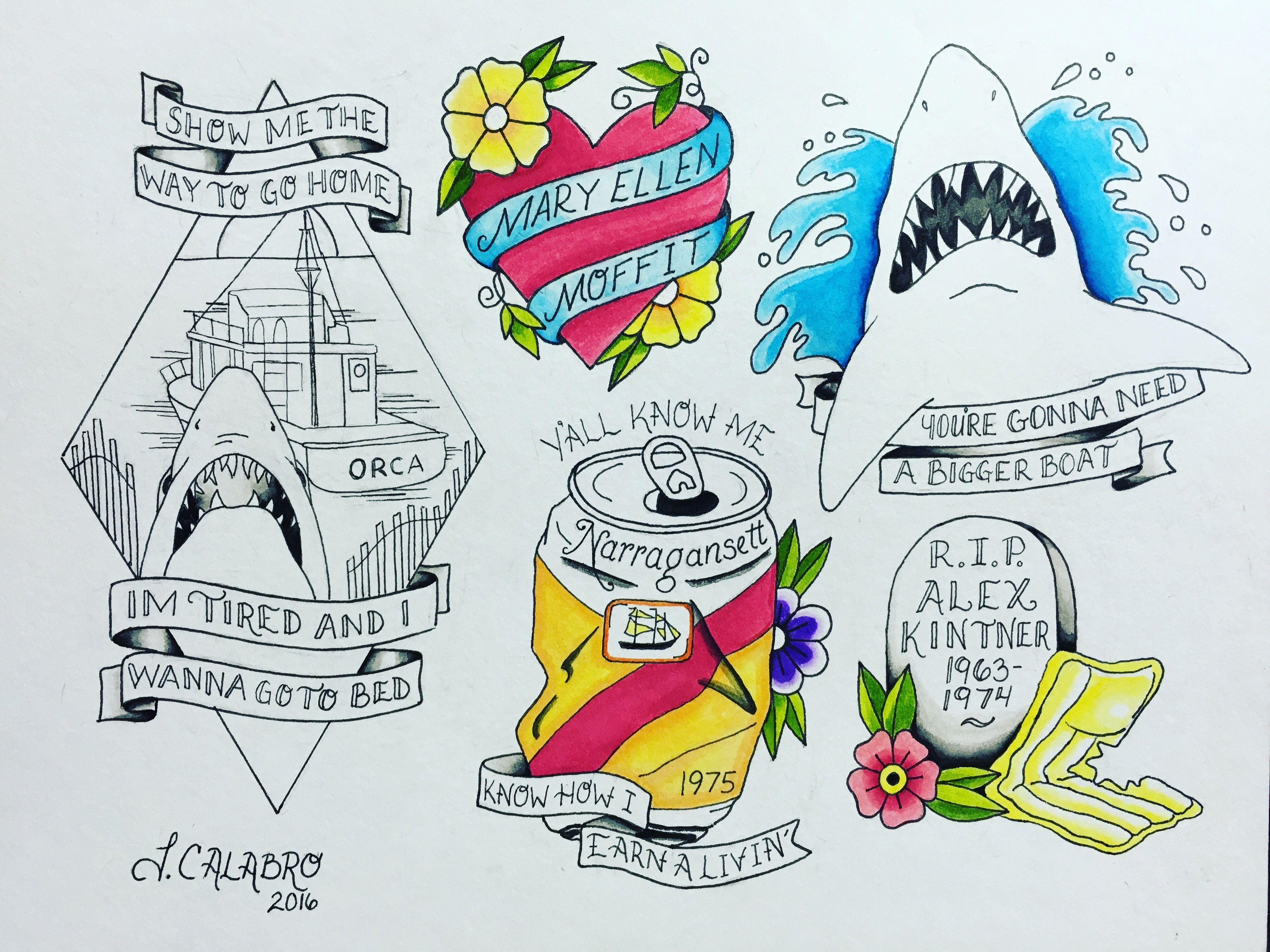 Instagram Jaw Tattoos: Horror Tattoo, Shark Tattoos