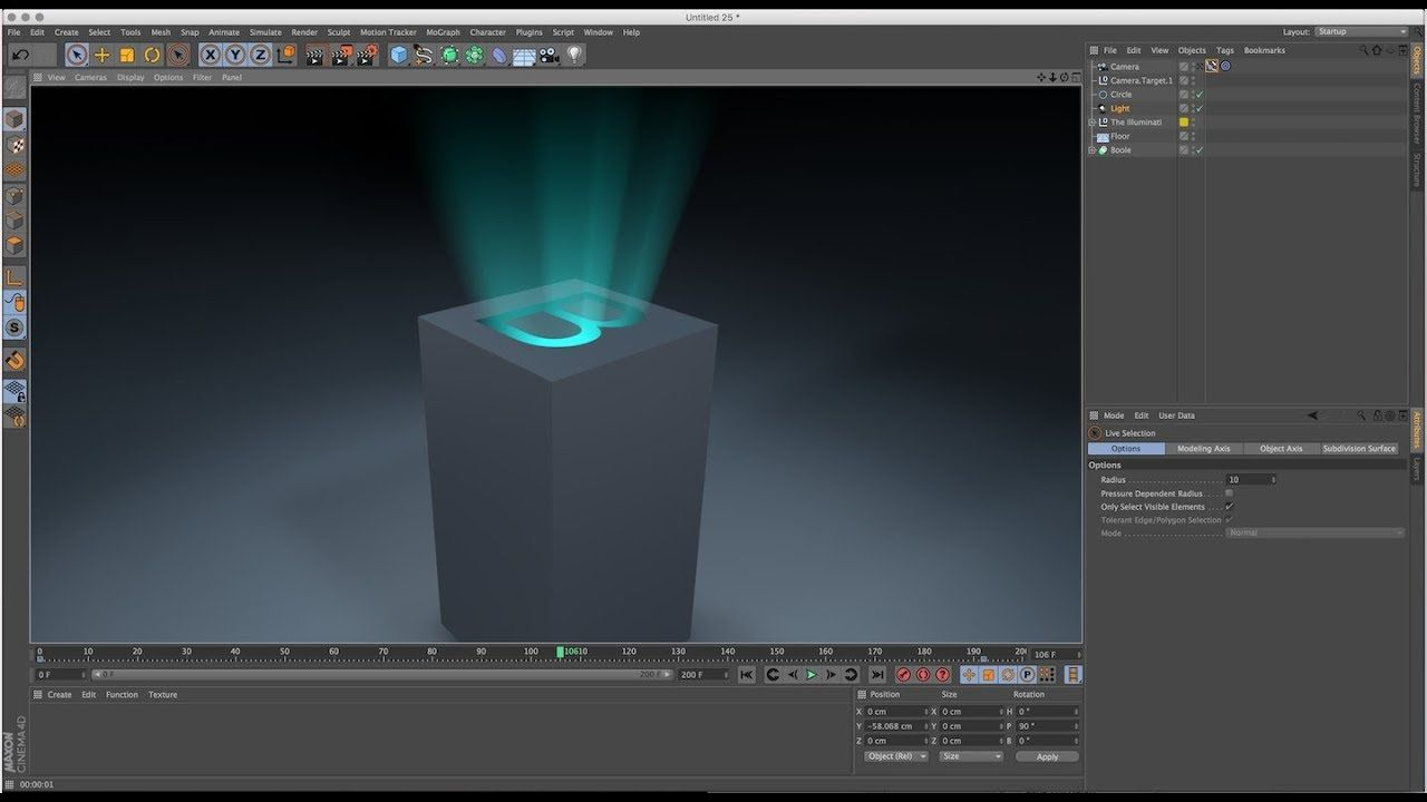 Volumetric Light Rays With Boole In Cinema 4D Tutorial This Is Me