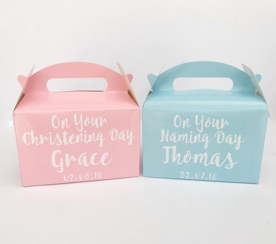 Christening Gift Box / Naming Day Present / Baptism Present / Personalised Gift / Personalised Present Keepsake / New Baby Godparent Gift