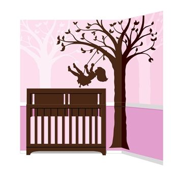 Silhouettes can give even the most sophisticated room a touch of fancifulness  Paint the silhouettes of this tree and the little girl in this do-it-yourself mural in a dark brown over lavender, pink or any other color to make your daughter's room whimsical  To give the room added depth, repeat the tree only in the background, but paint it in a color slightly lighter than your wall color more... http://www.simplyvelvet.com/product-p/eotw51406.htm