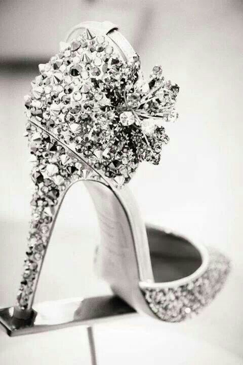 black heels with diamonds