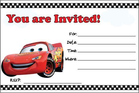 Free Printable Cars Invitation