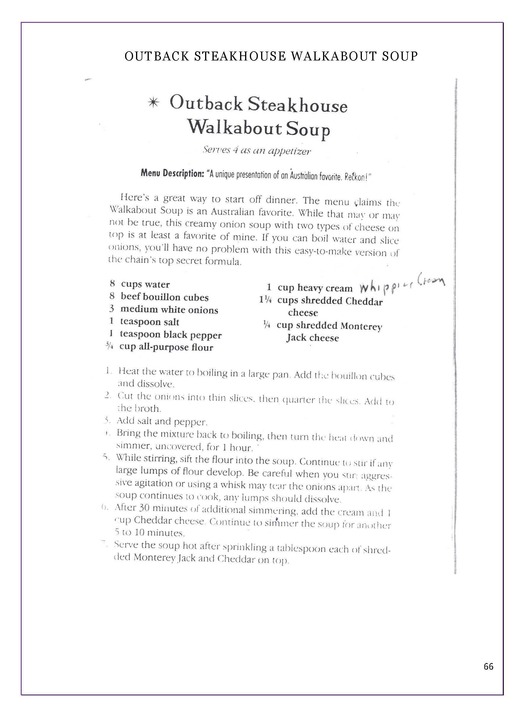 Page 66 - Outback Steakhouse Walkabout Soup | A Taste of Home ...