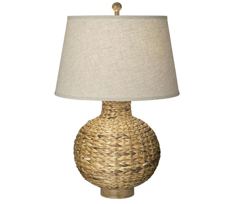 Bed Bath And Beyond Lamp Shades Fair Woven Seagrass Table Lamp  Textured Woven Seagrass Is Paired With A 2018