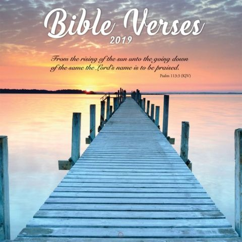 Bible Verses 2019 Wall Calendar The Bible Verse wall calendar will