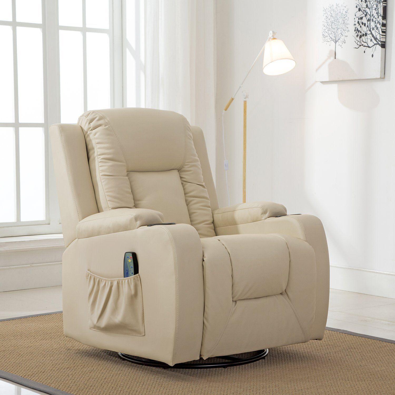 Comhoma massage recliner chair heated modern rocker