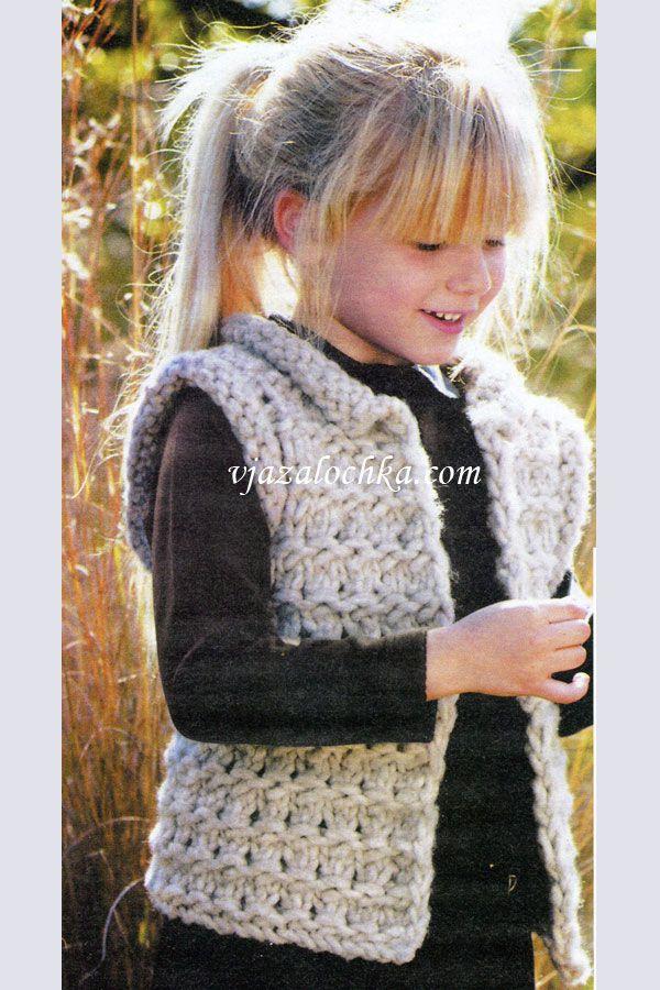 вязание для детей вязание спицами жилет вязание вязание