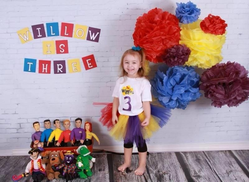 Happy Birthday Willow! These Wiggly Decorations Look Incredible #thewiggles  #wigglyparty #diy #