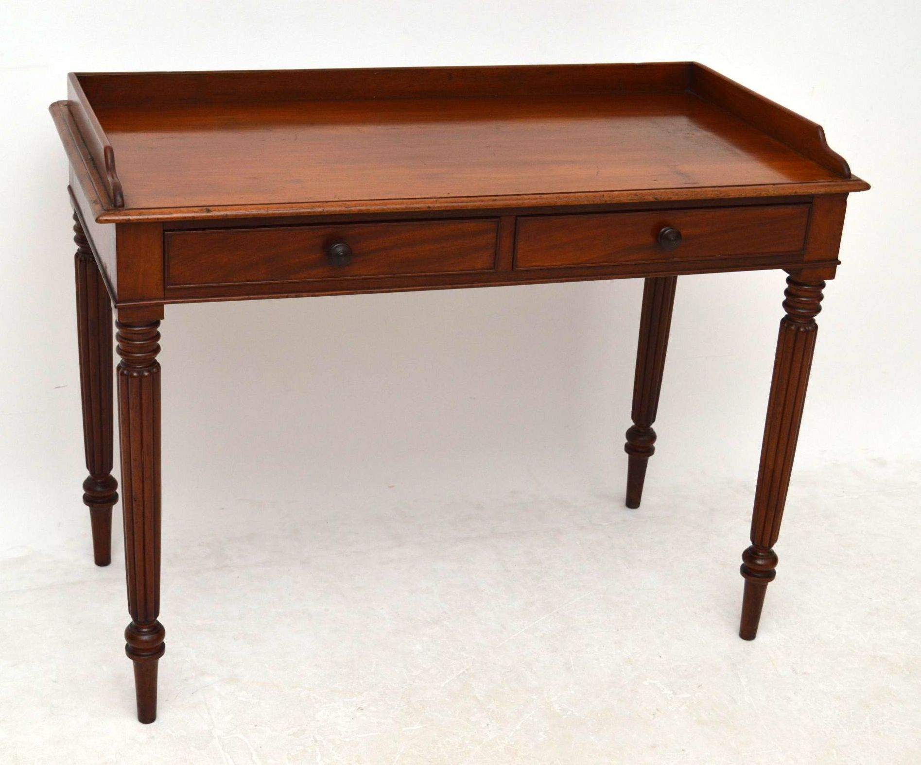 This Antique Mahogany Table Could Be Used As A Desk Side Table Or