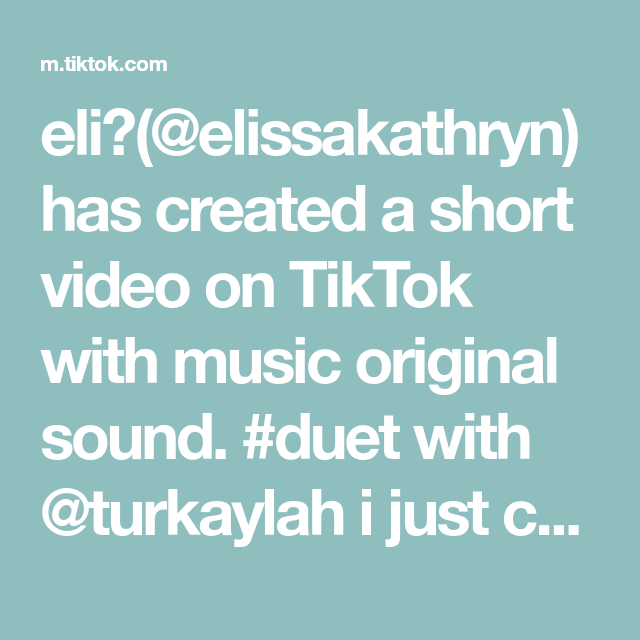 Eli Elissakathryn Has Created A Short Video On Tiktok With Music Original Sound Duet With Turkaylah I Just Completely Lost Business Checks Music Therapy