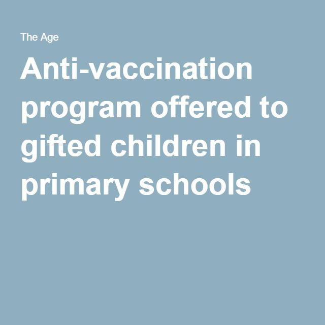 A School Program For Gifted Kids Is Distributing Vaccination Exemption Forms And Urging Students To Avoid Wi Fi In Schools Claiming That Have